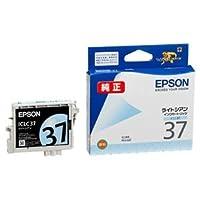 (まとめ) エプソン EPSON インクカートリッジ ライトシアン ICLC37 1個 【×4セット】