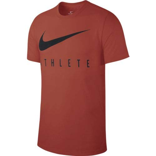 Nike M NK Dry Tee DB Athlete T-Shirt Homme Mystic Red/Black FR : S (Taille Fabricant : S)