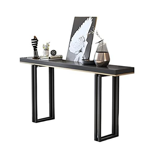 C-J-X TABLE Mesas De La Consola Negra para El Pasillo, Tablas De Consola Estrechas Duraderas Estables para El Pasillo Tamaño De La Consola Muy Estrecha: 80 * 30 * 80 Cm(Size:80 * 30 * 80CM)