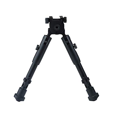 """Lion Gears Scout-pod Tactical Pro Bipod, 7.3"""" to 9"""" Heigth Adjustable, with Adjustable Double Swivel (Side to Side Pivoting and Swivel) and QD Mounting Deck, SP-BL07"""
