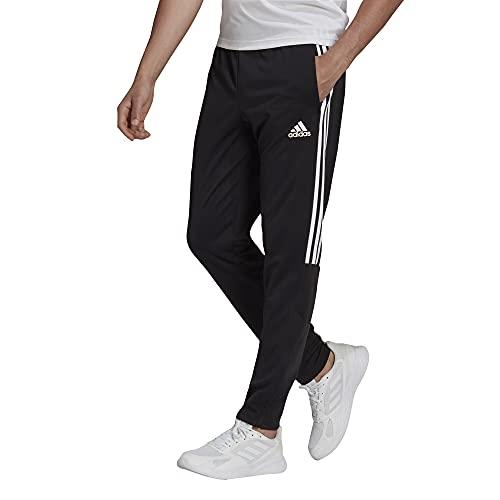 adidas Men's Standard Sereno Pant, Black/White, Medium