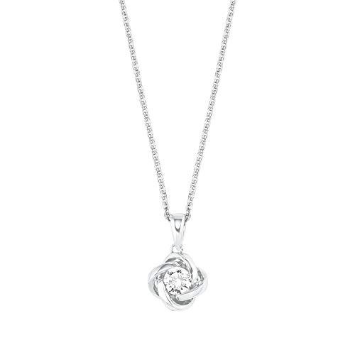 Amor Kette mit Anhänger für Damen, Sterling Silber 925, Zirkonia Knoten