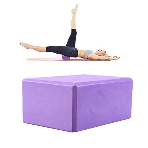 Ladrillos Yoga Ladrillo De Yoga Yoga Bloques de Soporte Bloques y Ladrillos para Yoga Yoga Kit de iniciación Bloque de Yoga Conjunto Purple,1pc
