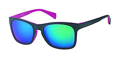 CHICNET Gafas de sol unisex Nerd Vintage Retro Gafas de espejo, con agujero para la llave, protección UV 400, color negro y multicolor