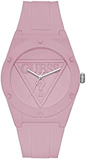 Guess Fashion Watch for Women, Polycarbonate Case, Pink Dial, Analog -W0979L5