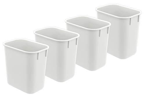 Acrimet Wastebasket 13QT 4 - Pack White Color