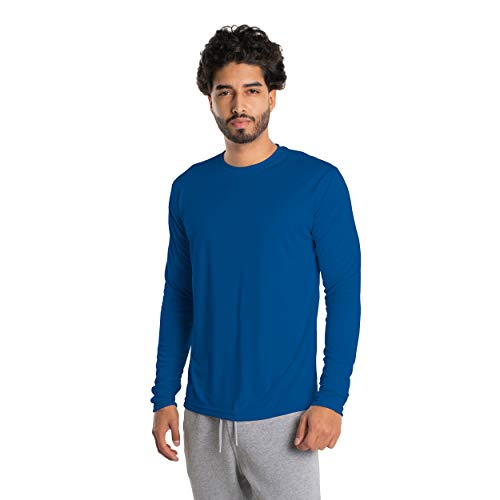 Vapor Apparel Men's UPF 50+ UV Sun Protection Long Sleeve Performance T-Shirt for Sports and Outdoor Lifestyle, XXX-Large, Royal Blue