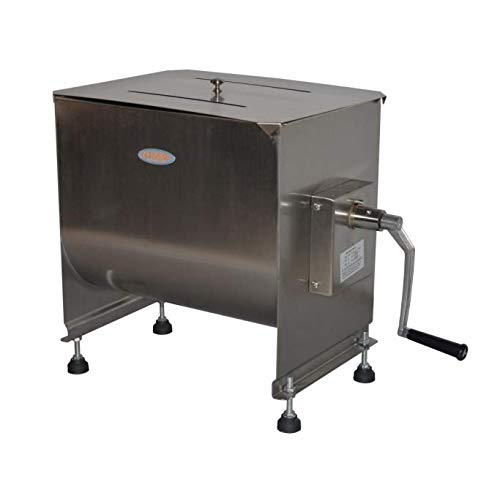Hakka 20-Liter capacity Tank Stainless Steel Manual Meat Mixer (Mixing Maximum 30-Pound for Meat).