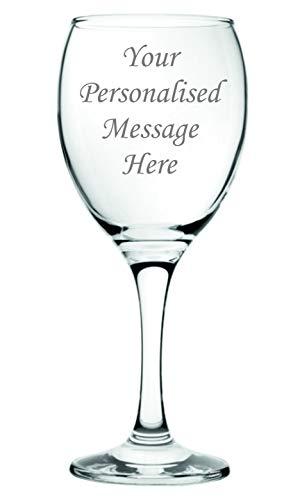 Copa de vino personalizable de 240 ml en caja de regalo con forro de seda