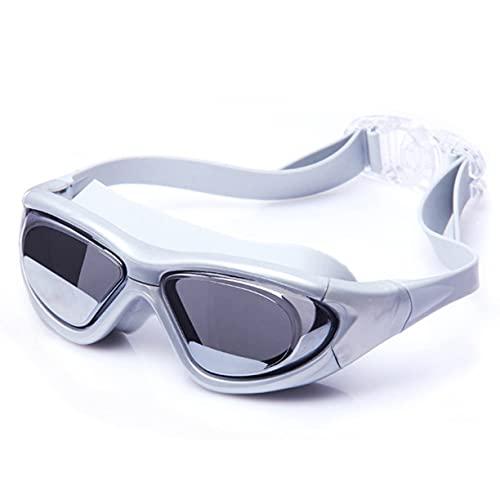 FMBK666 Gafas de natación, Lentes de protección UV antivaho Gafas de natación Equipo de Snorkel Fácil de Ajustar para Principiantes, Cómodas para Adultos Mujeres Hombres Niños