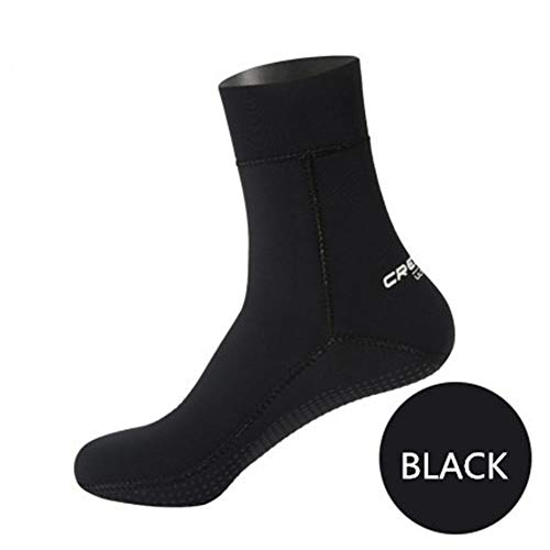 MDYYD Diving Socks Diving Socks Professional Adult Warm 1.5mm Suitable for A Variety of Water Sports Non-Slip Flexible Diving Socks (Color : Black, Size : S)