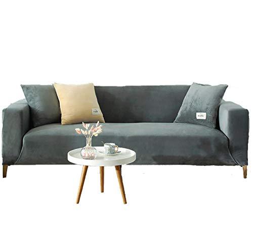 BLACK ELL Suave Cubiertas Elegantes De Los Muebles,Funda de sofá de Alta Elasticidad, Funda de Tela Universal Todo Incluido-F_235-300cm