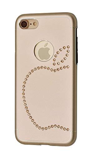 iShield 8/7/6S/6 manzana con 51 piezas de cristales de Swarovski Luxus funda para iPhone 8/7/6S/6 de aluminio satinado con elementos Swarovski (iPhone 8/7, dorado)