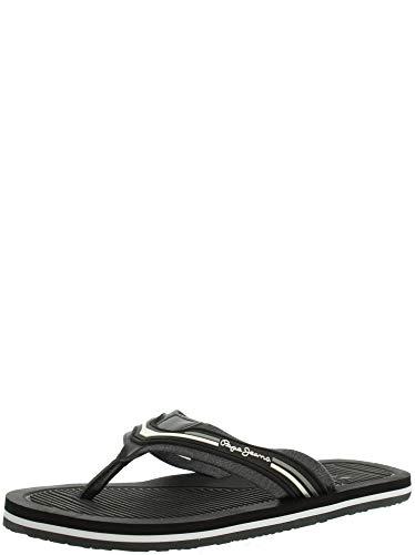 Pepe Jeans, Off Beach Black PMS90065,Flip Flops für Männer, 42