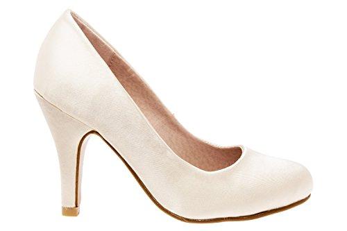 Andres Machado - Zapatos de tacón para Mujer - tacón de Aguja - ESAM422 - Variedad de Materiales y Colores - Tallas pequeñas, Medianas y Grandes - sin Cordones - Ideal para Todo Tipo de Eventos