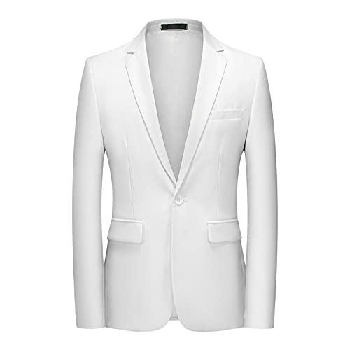 Outwear 11 color de gran tamaño S-6Xl Boutique moda Slim Color sólido Casual de negocios para hombre chaqueta traje chaqueta abrigo novio vestido de novia