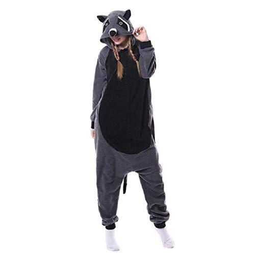 JBDGNZ Pijama para Mujer, Pijama de Oso de Animal de Dibujos Animados, Ropa para el hogar, Polar, Franela, Parejas para Pijamas, Mono de Cosplay de Halloween, Beige, L