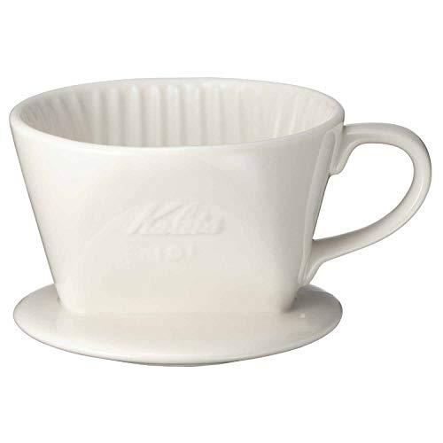 カリタ Kalita コーヒー ドリッパー 陶器製 1~2人用 ホワイト 101-ロト #01001