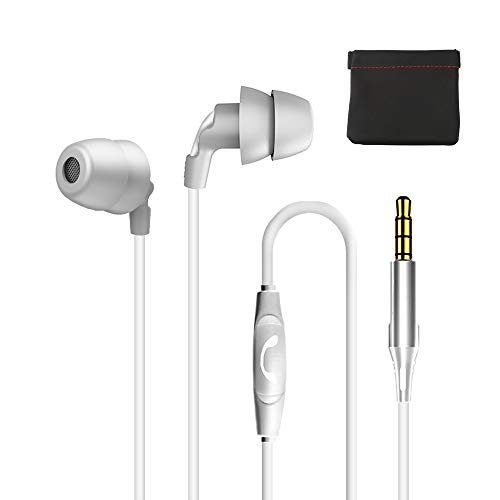 Sleep Earphone ,Gift Bag,Sleeping Earphone Unique Total Soft Silicone Perfect for Insomnia, Side Sleeper, Noise Isolating Ear Plugs Sleep Earbuds Headphones, Air Travel,Snoring, Relaxation (White)
