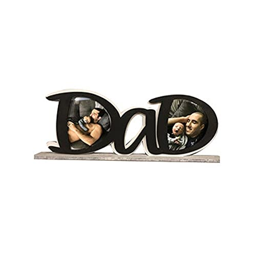 Dad Picture Frame, Father's Day Decoration Gift Photo Frame DaD/PaPa Shape for Father's Gifts