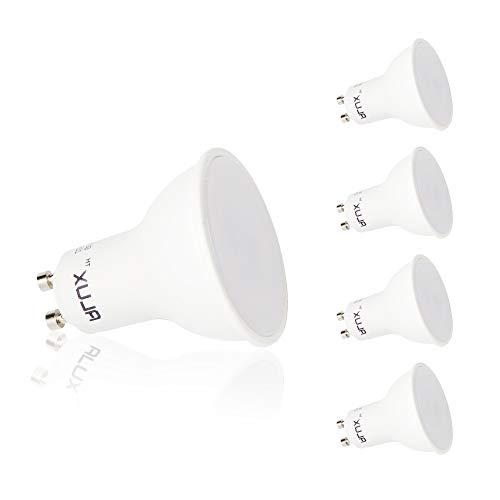 LED GU10 Lampe,LED Leuchtmittel GU10 5W 400 Lumen,Ersetzt 35W Watt Halogen,Warmweiß 3000K 120°Ausstrahlungswinkel,Nicht Dimmbar,4er Pack[Energieklasse A++]