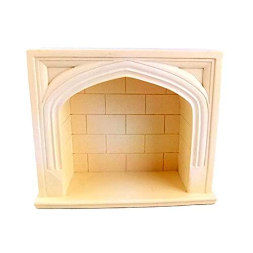 Foyer Tudor Résine Crème Maison de Poupée Miniature 1:12