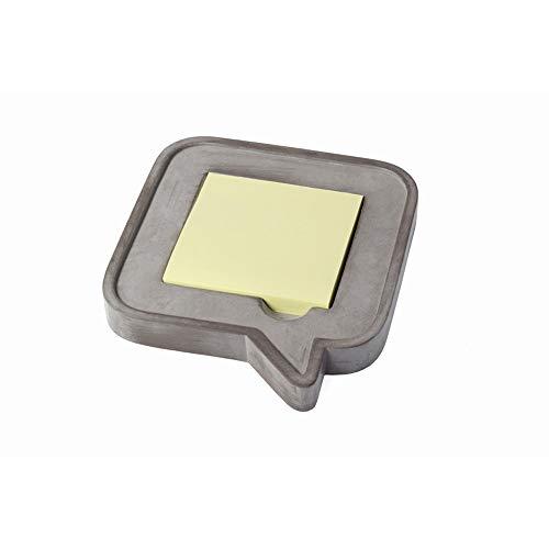 Notizzettelhalter aus Beton inkl. 100 Blatt Haftnotizblock, Notizzettel-Box im besonderen Beton-Design für Schreibtisch und Arbeitsplatz von notrash2003