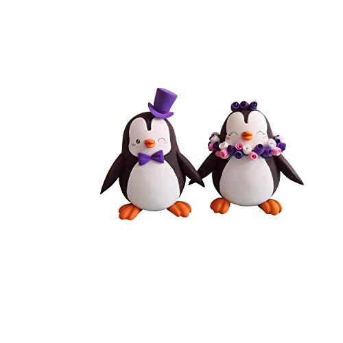 Custom Penguin wedding cake toppers, Bride and groom figurines,Handmade, Fully customizable. Unique...
