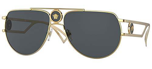 Versace Gafas de Sol ENAMEL MEDUSA VE 2225 Gold/Dark Grey 60/15/140 hombre