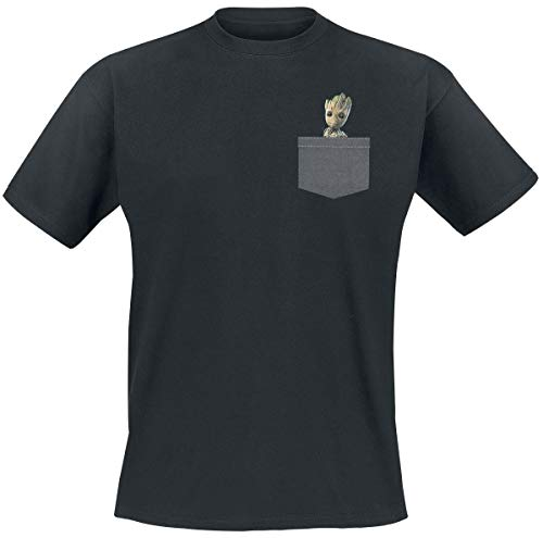 ABYstyle - MARVEL - Camiseta - Pocket Groot - Hombre - Negro (L)