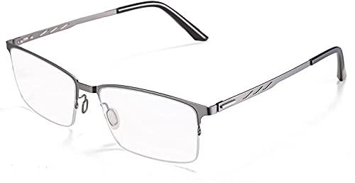 老眼鏡 おしゃれ メンズ リーディンググラス ブルーライトカット 男性用 ケース付き パソコン用 スマホ用 PC用 携帯用 軽い (度数:+2.5)
