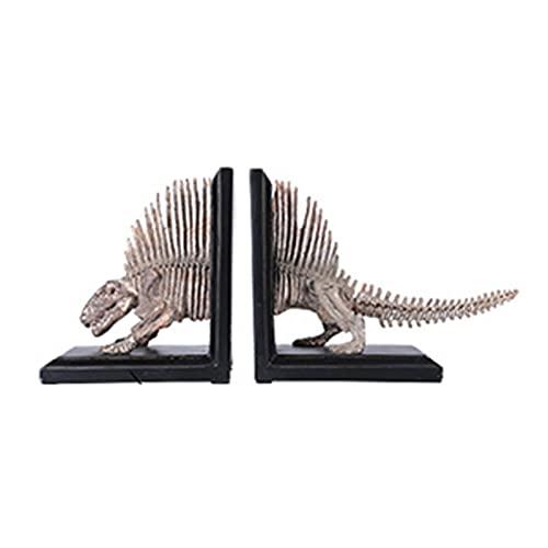 XXXD Simulación de Escritorio Dinosaurios Fósiles Fósiles, Decoración Crafts Crafts Creative Office Sookends Moderno Hogar Bookshelves