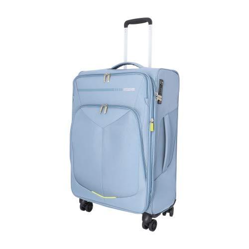 American Tourister Summerfunk Maleta con 4 Ruedas Azul-Gris 67 cm