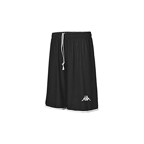 Kappa Opi Basket Short de Baloncesto, Hombre, Negro, 2XL