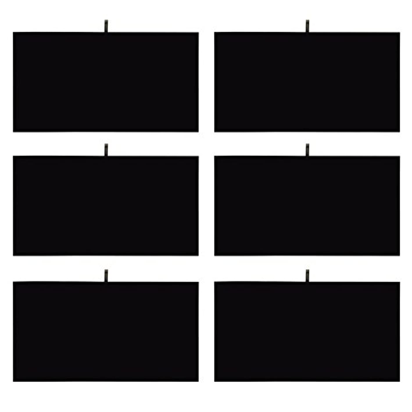 Mooca 6 Pieces Black Velvet Cover Padded Wood Jewelry Display Pad Tray Inserts 14 1/8