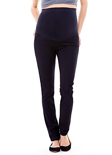 Product Image of the Ingrid & Isabel Women's Ponte Maternity Work Pant with Bellyband – Black