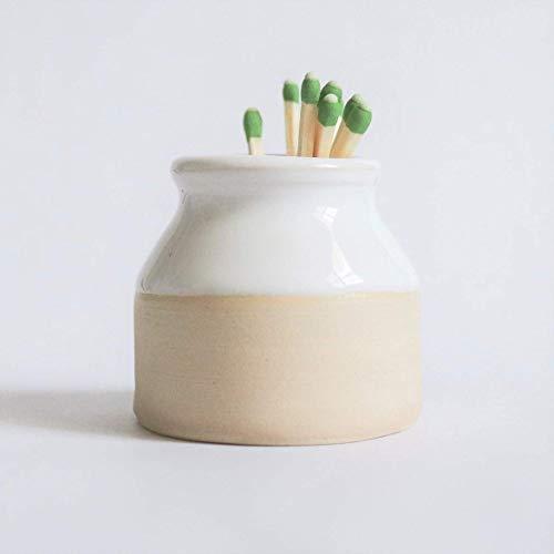 "Henro Company Match Striker - Handmade in North Carolina | Two Toned Strike 1.5"" x 2"", Candle Accessory Mini pottery New Home Birthday Anniversary Gift"