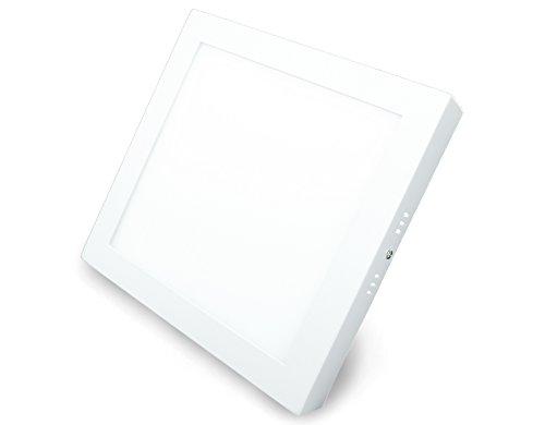Panneau LED carré avec puissance 18 W, montage en saillie, blanc chaud, 22,5 cm, type : ECONOMY AR18225WWS