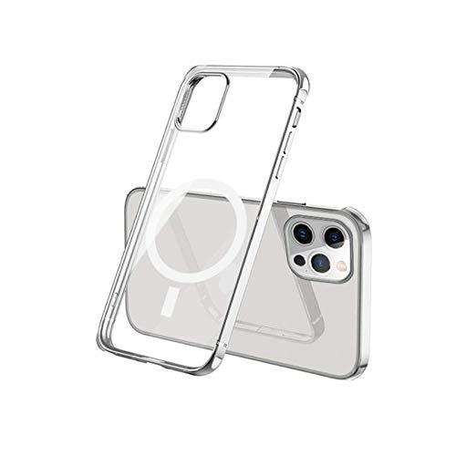 Étui magnétique de chargement sans fil pour iPhone 12 Pro Max 12 mini housse de protection pour téléphone portable, étui en cuir magnétique solide pour chargeur Magsafe