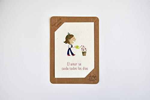 Original Grußkarte aus Papier mit Samen, Geburtstagskarten, Bastelpapier, Einladungen, Geschenkkarten, Glückwunschkarten - Die Liebe