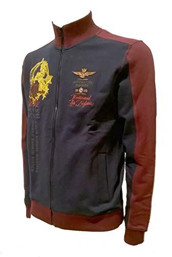 Aeronautica Militare Sudadera FE1436 90770 Azul Navy-Deep Red, Hombre, Polo, Pantalón, Camiseta, Camiseta