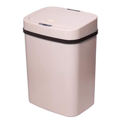 TOO STC-12 - Cubo de basura con sensor de movimiento, cubo de basura automático con 12 l, con sensor de infrarrojos, varios colores, Crema