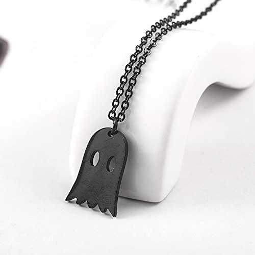 OYHBV Collar Collar De Fantasmas De Halloween Encantos De Fantasmas Espeluznantes Joyería De Halloween Niños Lindos Festival De Niñas Collares Pendientes