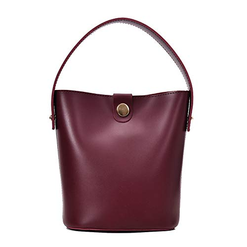 BAOm Bolsa para Mujer Tendencia de la Moda Versión Coreana del Hombro Salvaje Bolsa de Mensajero Personalidad de la Personalidad Explosions Bucket Bag