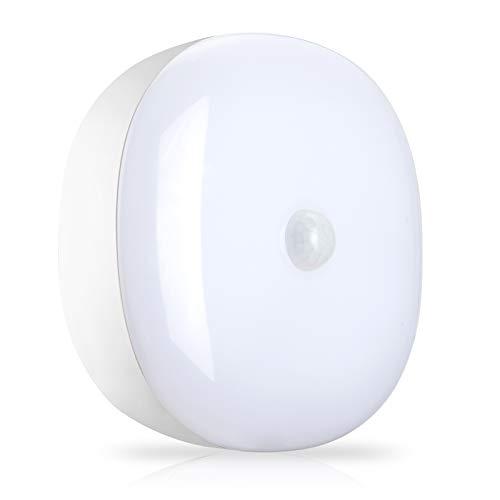 Youtob Batteriebetriebene LED-Deckenleuchte Drahtlose Bewegungssensorleuchte 300 Lumen 5 W für Innen-Außen, Schrank, Speisekammer, Treppe, Garage, Keller, Dusche (4000K Cool White)