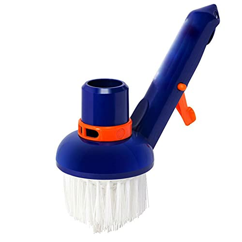 Aimili Pool Step & Corner Vacuum Brush Best for Above Ground & Inground Swimming Pools, Spas & Hot Tubs, Fine Bristles, 1-1/2 Hose & 1-1/4 Pole Connection, Tackles Hard to Reach Places (1PC)