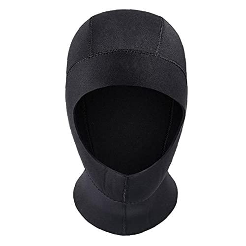 Liadance Buceo Capucha de Neopreno de 3 mm de la Resaca de la Capilla del Sombrero del Casquillo Traje para bucear Kayak Piragüismo Vela Deportes acuáticos Negro L