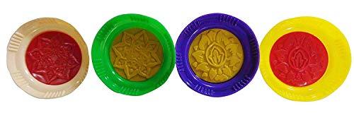 Set von 4 Kunststoffdatteln, 8,1 cm, Maamoul Mamoul Ma'moul Ma'amoul Dattelform Pistazie Muffin Mondkuchen Arabisch Nahöstlich Keksform Presse Backen Dekoration Ramadan Eid