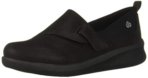 Clarks Women's Sillian 2.0 Ease Loafer, Black Synthetic Nubuck, 75 M US