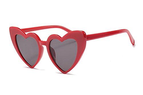 FEISEDY Gafas de Sol Retro en Forma de Corazón Gafas de Amor con Estilo Mujer B2421